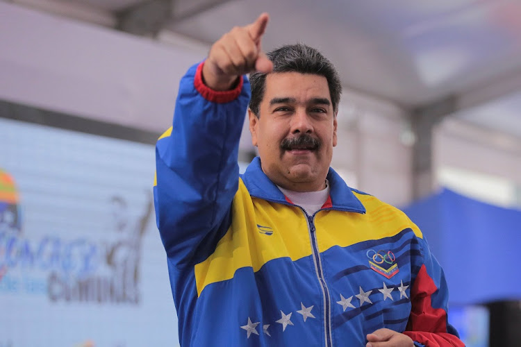 Venezuela's President Nicolas Maduro attends an event with supporters in Caracas, Venezuela, October 20, 2018.