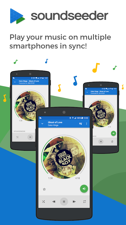 Share music in sync - SoundSeeder Music Player 2.0- screenshot