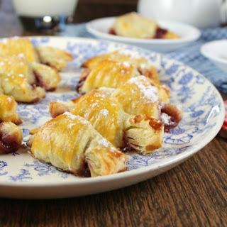 Mini Raspberry Croissants