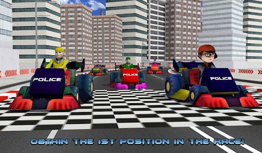 Kids Police Car Racing screenshot 13