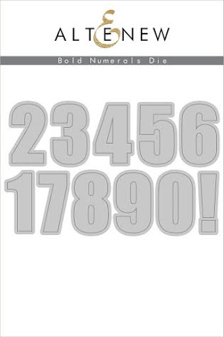 Altenew Die Set - Bold Numerals
