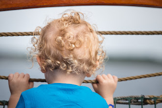 """Photo: """"It's a BIG world out there"""" #babycurls #pirateadventure #capecod  #tobetwoagain  #cutenessoverload"""