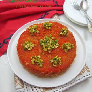 Cheese Kunafa (Arabian Dessert).