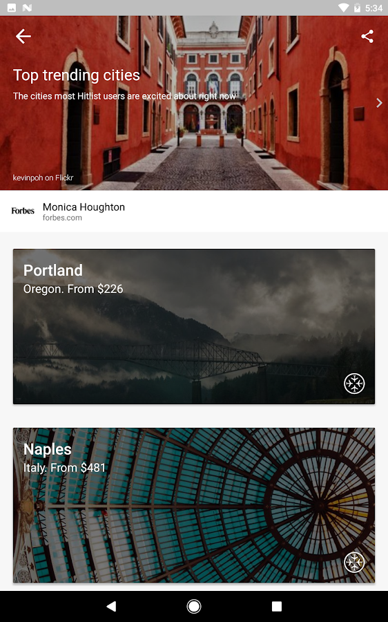 Hitlist- Find Cheap Flights & Airline Ticket Deals- screenshot