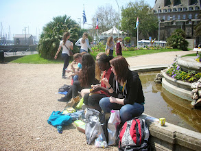 Photo: Lunch outside of Saint Malo
