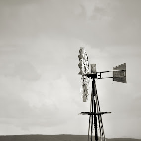middle of nowhere by Gerhard Conradie - Novices Only Objects & Still Life ( lonly, wind pump )