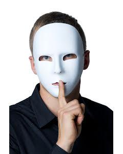 Ansiktsmask, vit