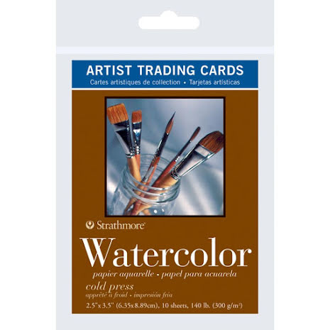 Strathmore Artist Trading Cards 2.5X3.5 5/Pkg - Watercolor