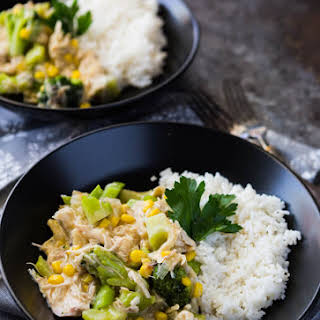 Slow Cooker Broccoli and Chicken.