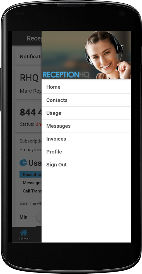 ReceptionHQ Answering Service- screenshot