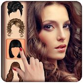 Girls Hair Salon Photo Montage
