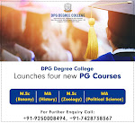 DPG Degree College launches New PG Courses
