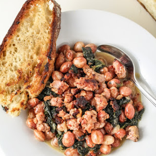 Parmesan Beans with Kale and Sausage