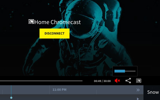Pluto.tv ChromeCast Volume