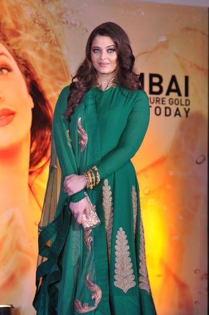 Aishwarya Rai in green salwar suite
