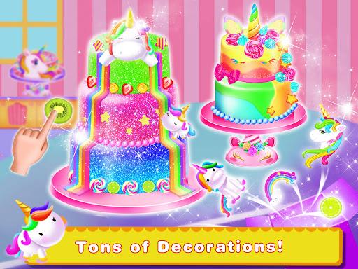 Cooking Unicorn Rainbow Cake- Food Game for girl 1.7 Screenshots 4