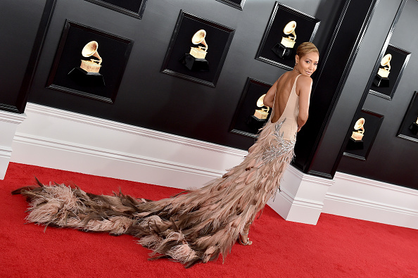 9a68c67e1d30 Jada Pinkett-Smith on the red carpet at the 2019 Grammy awards.