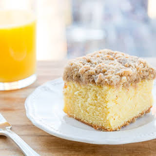 Orange Coffee Cake with Streusel Crumb Topping.