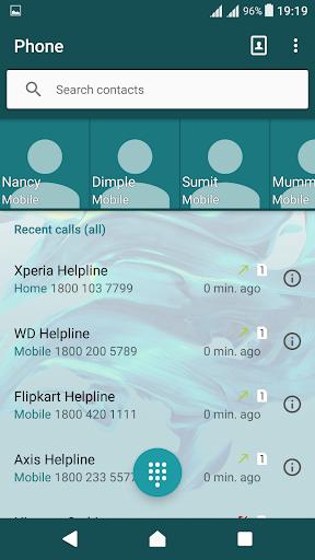 Delight Aqua XZ Theme Xperia screenshot 2