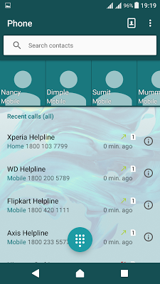 Delight Aqua XZ Theme Xperia - screenshot