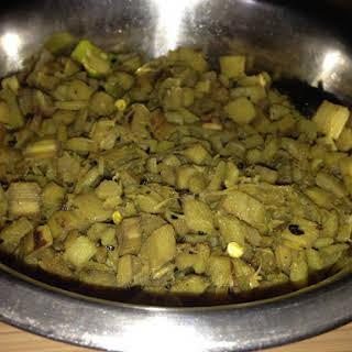 Make thor bothi - Banana stem fry.