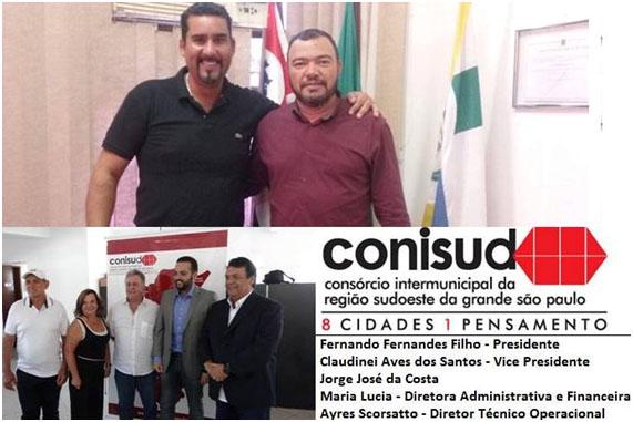 Reunião com o presidente de câmara de Embu Guaçu