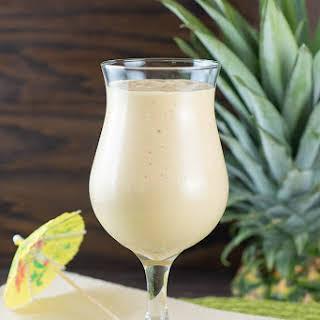 Mango, Pineapple, Coconut Smoothie.