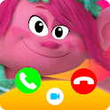 Call from poppy Chat + video call (Simulation)‏ icon