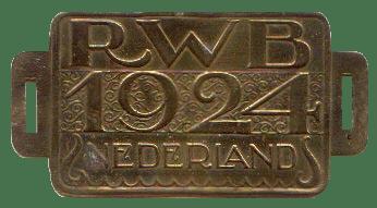 Photo: 1924 Invoering rijwielbelastingplaatje