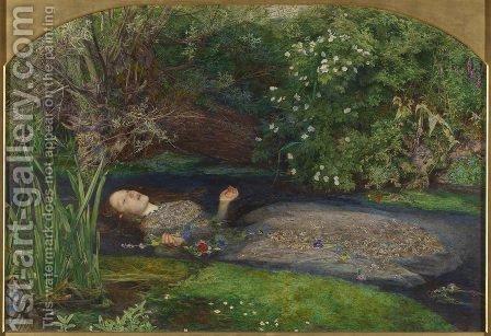 Ophelia  1851-52. The painting by Sir John Everett Millais