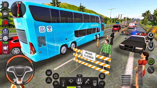 Modern Offroad Uphill Bus Simulator apkpoly screenshots 1