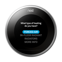 nest thermostat forced air