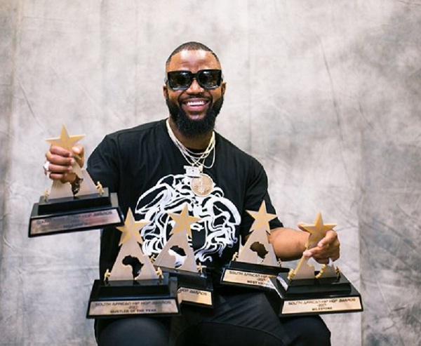 Cassper Nyovest wins big at the South African Hip Hop Awards.