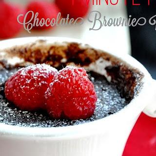 One Minute Chocolate Brownie in a Mug