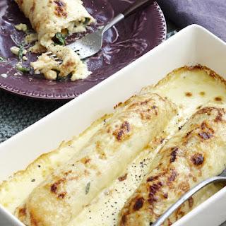 Spinach and Ricotta Potato Crepes.