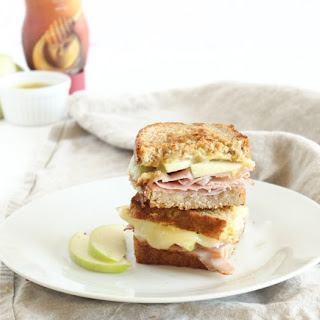 Apple White Cheddar Hot Ham and Cheese Sandwich Recipe