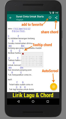 Kunci Gitar Indonesia Offline - screenshot