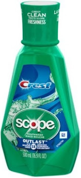 Crest Scope Outlast Mouthwash - 500ml