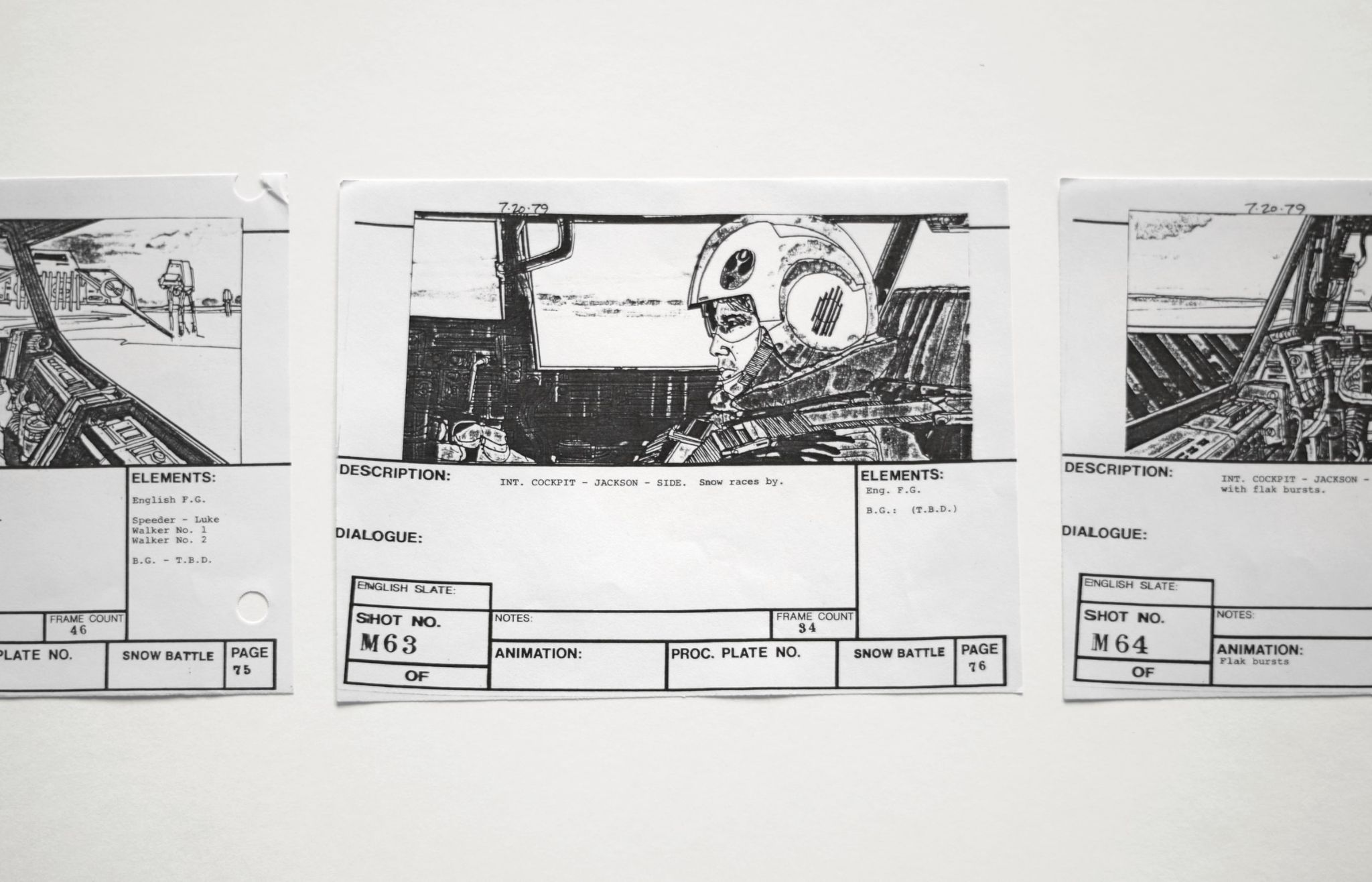 storyboard for star wars