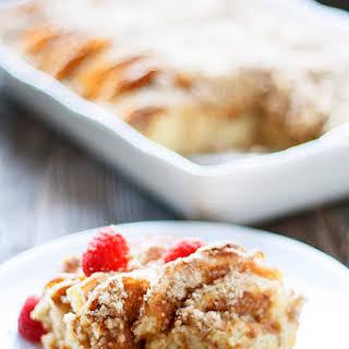 Overnight Pancake Casserole.