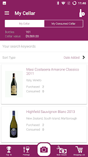 Wine Scanner, Ratings, Cellar- screenshot thumbnail