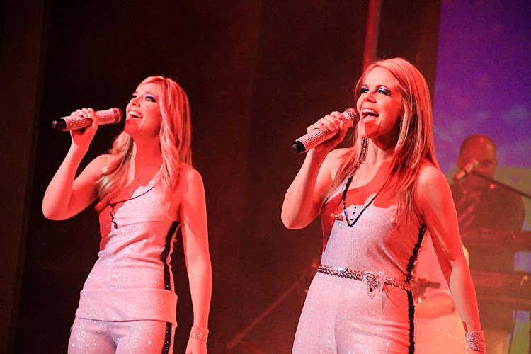 Original vocalists Caron Strydom, left, and Tara-Jane Stern front the Abba show