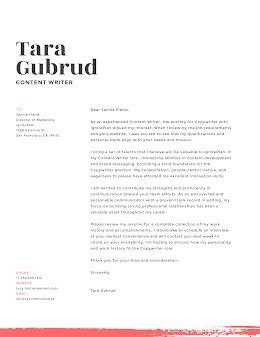 Tara Gubrud - Cover Letter item