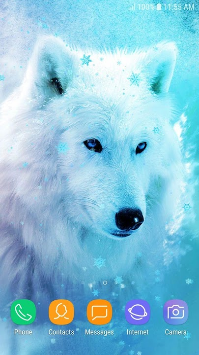 Download Ice Wolf Live Wallpaper HD
