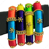 Silk Thread Bangle Designs