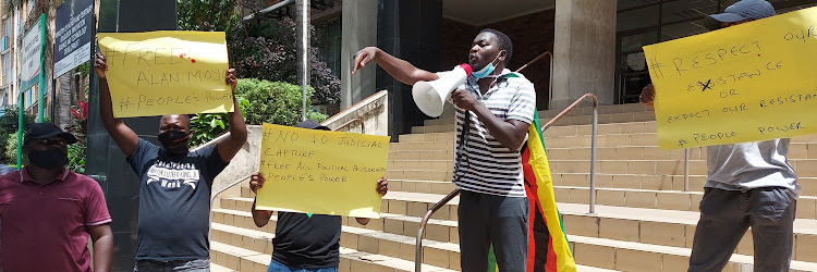 Zimbabwean activist Makomborero Haruzivishe was jailed for 14 months on Tuesday.