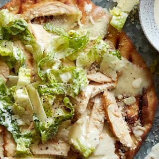 Chicken Caesar Salad Pizza.