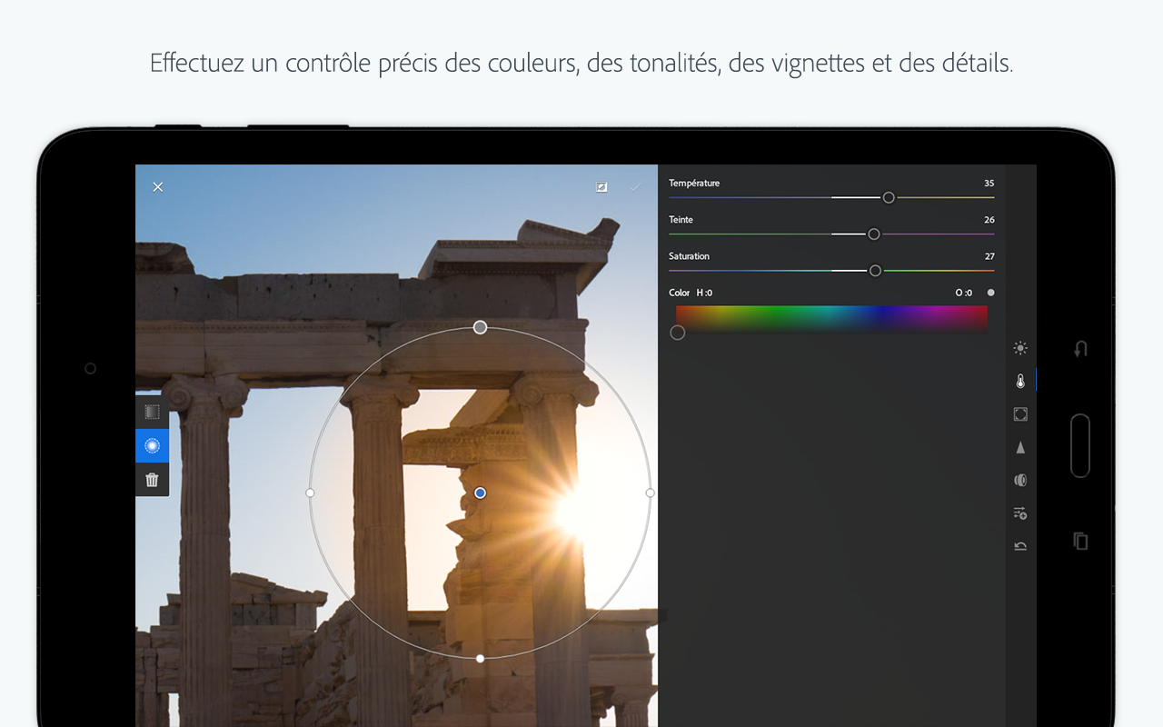 Adobe Photoshop Lightroom – Capture d'écran