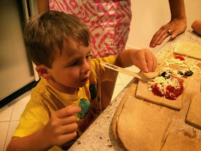 Photo: Finn and Mommy Make Pizza Pops