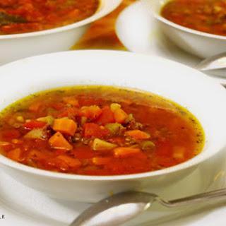 Slow Cooker Italian Hamburger Soup